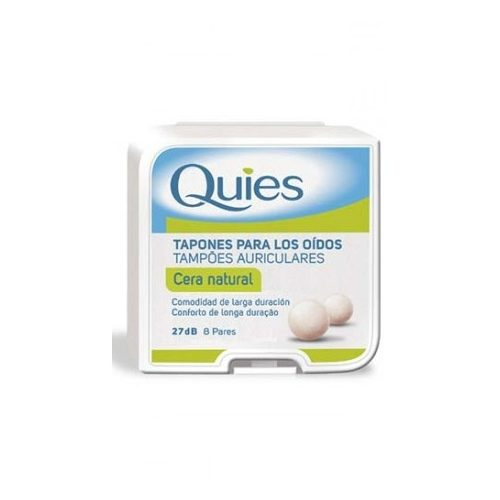 TAPONES OIDOS CERA NATURAL 16 U QUIES