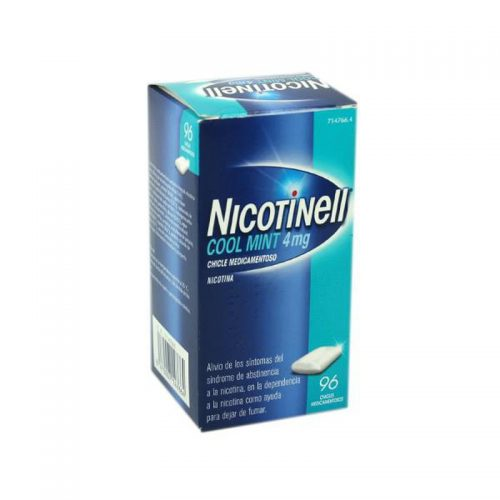NICOTINELL MINT 4 MG 96 CHICLES RECUBIERTOS
